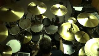 """Drumming along to """"Chemistry"""" by Rush (top View)"""