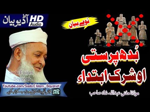 Molana Abdullah Shah Sahb New Bayan - مفتی عبداللہ شاہ صاحب نوے بیان - Budh Parasty o Shirk Ebteda