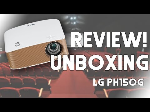 Unboxing & Review - LG MiniBeam PH150G - Mini proyector LED HD Portátil