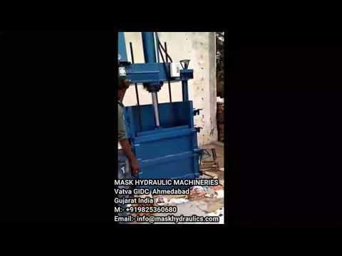 Double Box Single Cylinder Cardboard Baling Machine