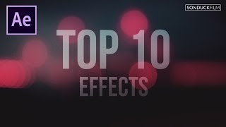 Gambar cover Top 10 Best Effects in After Effects