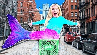 Video I Became a MERMAID in Public For A Day! (WORST Game Master 24 Hour Challenge) | Rebecca Zamolo MP3, 3GP, MP4, WEBM, AVI, FLV September 2019