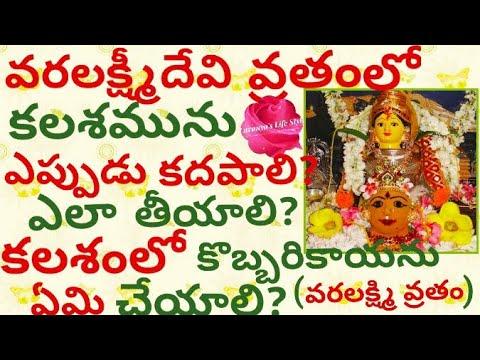 Download Sravanamasam Varalakshmi Ammavari Puja Kalasam Decoration
