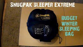 Snugpak sleeper extreme sleeping bag review | budget winter sleeping bag | winter camping gear