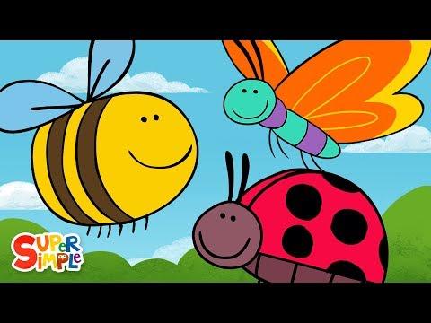 Butterfly Ladybug Bumblebee | Super Simple Songs