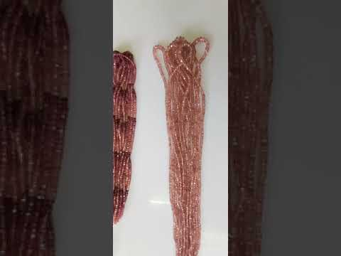 Pink Tourmaline Facetted Roundel Shape beads Bati Shape