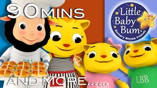 Hot Cross Buns | HUGE Nursery Rhymes Collection | 90 Minutes Compilation from LittleBabyBum!