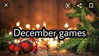 December new games