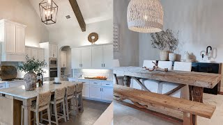 MODERN BOHEMIAN FARMHOUSE KITCHEN & DINING ROOM | Julia & Hunter Havens