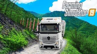 Застрял в Горах на Лесной Дороге - Farming Simulator 19