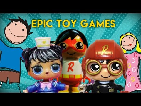EPIC TOY GAMES FT RYAN'S WORLD TOY FIGURES, LOL BUBBLY SURPRISE DOLL AND GOB SMAX