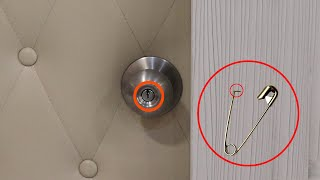 how to pick a door lock with a safety pin?