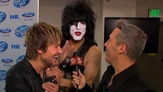 In the FOXlight: Keith Urban Gets a Surprise Visit From Paul Stanley of KISS