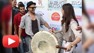 Ranveer Singh & Deepika Padukone Launch Gajanana Song In Pune | Bajirao Mastani