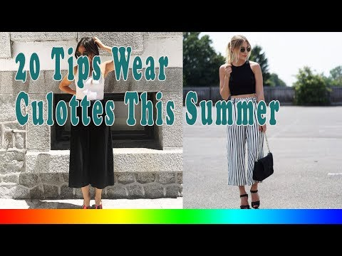 20 Style Tips On How To Wear Culottes This Summer
