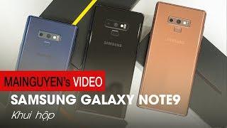 Đập hộp 3 màu chính thức Galaxy Note9: Siêu phẩm quyền lực nhất của Samsung - www.mainguyen.vn