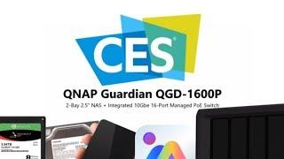 Buy Qnap QGD-1600P PoE Switch with NAS 16-Port Switch, 90W