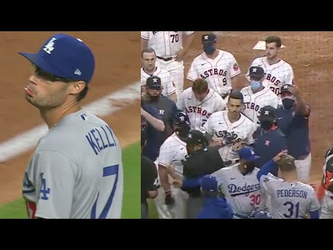 BENCHES CLEAR – Houston Astros vs Los Angles Dodgers (Video)