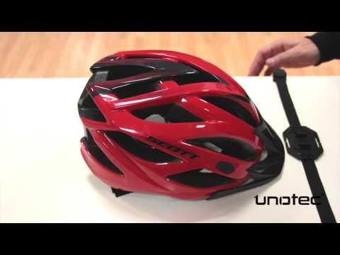 Cámara XTR - Colocación de la correa para el casco de Bici