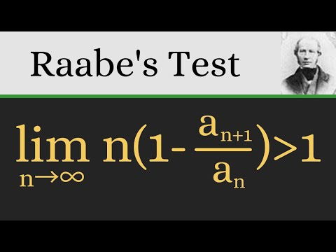 The series test you didn't learn in Calculus!