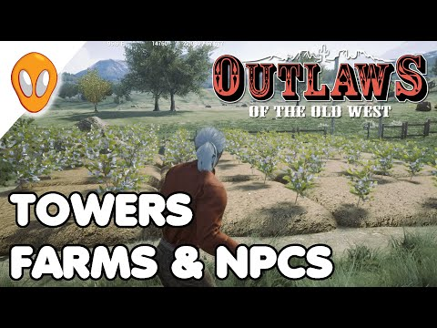 Towers, Farms and Villagers | Outlaws of the Old West Ep 37