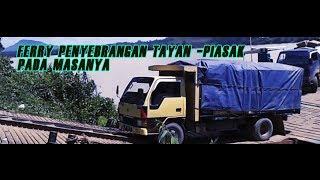 preview picture of video 'Penyebrangan Ferry terseram !!! TAYAN - PIASAK Trans Kalimantan 2012'