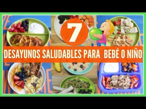 7 desayunos saludables para tu bebé o TODDLERS|Breakfast ideas for toddlers &baby|RECETA PARA BEBES|
