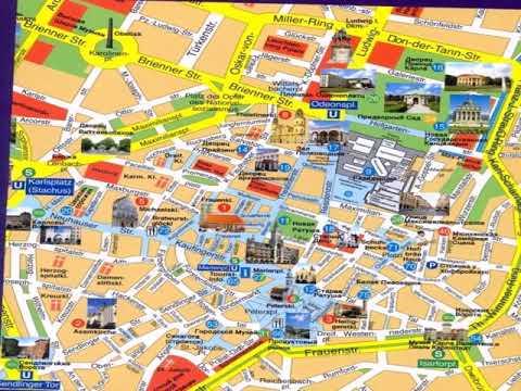 карта мюнхена с достопримечательностями