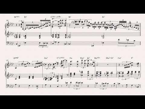 Oscar Peterson - Georgia on My Mind (transcription) + double bass
