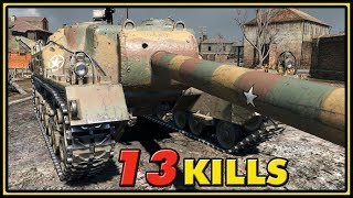 T28 - 13 Kills - 1 vs 6 - World of Tanks Gameplay