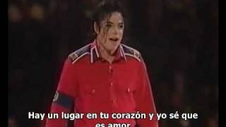 Michael Jackson - Heal The World Gala Clinton (Subtitulado Español)