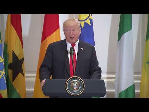 Watch Trump's full speech to African leaders
