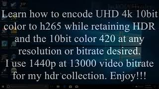 StaxRip Tutorial h265 10bit YUV 444 Anime Encode (My