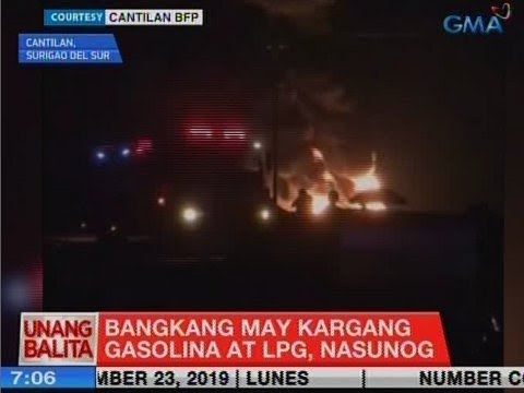 [GMA]  UB: Bangkang may kargang gasolina at LPG, nasunog
