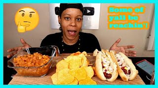 RESPONDING TO SUBSCRIBER COMMENTS ON OUR BISEXUAL VIDEO + HOT DOG MUKBANG