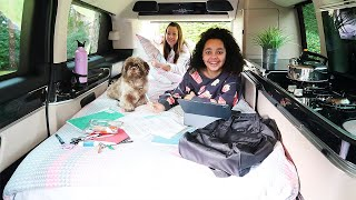 LIVING IN A VAN Because Our House Is Haunted | Family Van Life