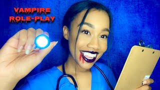 ASMR Vampire Doctor Gives You a Check-up 🧛🏽♀️ Vampire Role-play ASMR