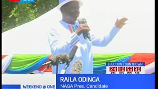 Raila Odinga leads NASA leaders as they campaign in Western
