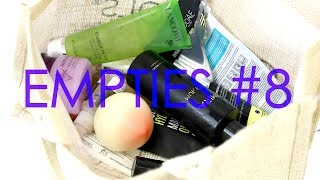 EMPTIES #8 - beauty products I used up in November