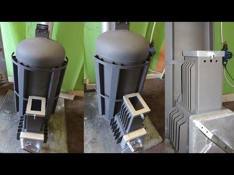 Piec rakietowy ANDRZEJ V2 (1/2) koza holzgas rocket stove heater