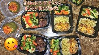 3 Easy Keto Meals  (Beginner Friendly Meal Prep)