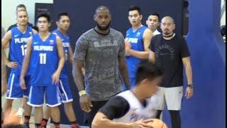 LeBron James trains Gilas Pilipinas