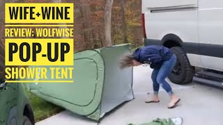 Wife+Wine Review: Wolfwise Pop-Up Tent, first setup and folding it back up.