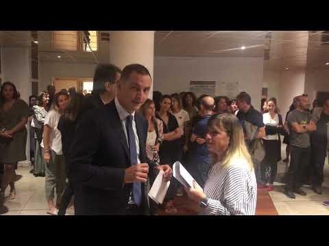 VIDEO. Manifestation des agents à la Collectivité de Corse