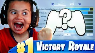 *EXPOSING* MY LITTLE BROTHERS SETTINGS! *NEW* SETTINGS TURNED HIM INTO A GOD! FORTNITE BATTLE ROYALE