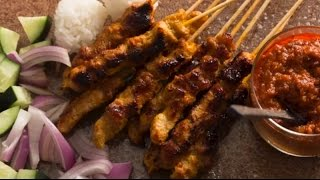 Malaysia Kitchen - Chicken Satay - Cooking Video
