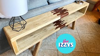 Mid-century Modern Console Table from 1 $50 Piece of Plywood