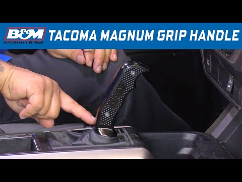 Install: 2016-18 Toyota Tacoma - B&M Magnum Grip Automatic Shift Handle 81099