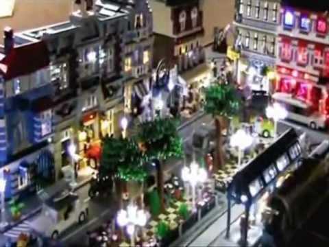 Lego - Stadt beleuchtet mit Straßenbahn + über 400 LEDs - Lightning City