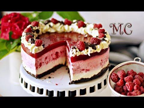 Tort serowy z malinami i ciasteczkami Oreo bez pieczenia – PRZEPIS – Mała Cukierenka